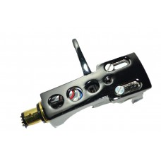 Titanium Plated Cartridge and Headshell unit with Stylus fits Audio Technica T.92 usb, AT PL120, AT PL120 usb, AT LP1240 usb