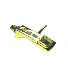 Gold plated Headshell Tonearm cartridge mount for Audio Technica T.92 usb, AT PL120, AT PL120 usb, AT LP1240 usb