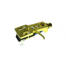 Gold plated Cartridge and Headshell unit with Stylus fits Audio Technica T.92 usb, AT PL120, AT PL120 usb, AT LP1240 usb