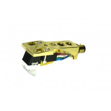 Gold plated Cartridge and Headshell unit with Stylus fits Fisher MT6250, MT6330, MT6335