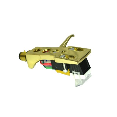 Gold plated Cartridge and Headshell unit with Stylus fits Gemini PT2410, PT2600, PDT6000, SA600, SA2400, SV2200, Q1300, XLBD40, XLDD20, XLDD50