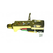 Gold plated Cartridge and Headshell unit with Stylus fits Optonica STY158