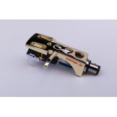 Gold plated Cartridge and Headshell unit with Stylus fits Kenwood, Trio KP1022, KP2021, KP2022, KP2077, KP3021, KP4021, KP5021, KP7070, KP8080, 945, 400M, KD205, KD1033, KD1500