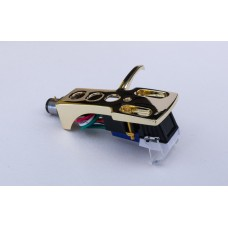 Gold plated Cartridge and Headshell unit with Stylus fits Kenwood, Trio KD1033, KD1500, KD2000, KD2033, KD2044, KD2055, KD2070, KD3033, KD3055, KD3070, KD4033, KD4100, KD5033, KD5066, KD5070, KD7010